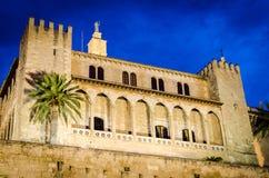 Cathedral, Palma. Exterior night shot of the Cathedral of Santa Maria of Palma, Mallorca Stock Photo