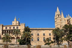Cathedral of Palma in Palma de Mallorca, Majorca, Spain. La Seu Cathedral of Palma in Palma de Mallorca, Majorca, Spain Stock Photos