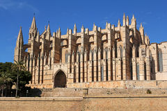 Cathedral of Palma in Palma de Mallorca, Spain. La Seu Cathedral of Palma in Palma de Mallorca, Majorca, Spain Stock Photography