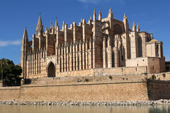 Cathedral of Palma in Palma de Mallorca, Spain. La Seu Cathedral of Palma in Palma de Mallorca, Majorca, Spain Royalty Free Stock Photos