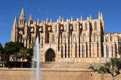 Cathedral of Palma in Palma de Mallorca, Spain. La Seu Cathedral of Palma in Palma de Mallorca, Majorca, Spain Royalty Free Stock Photography