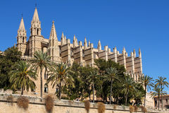 Cathedral of Palma in Palma de Mallorca, Spain. La Seu Cathedral of Palma in Palma de Mallorca, Majorca, Spain Stock Photos