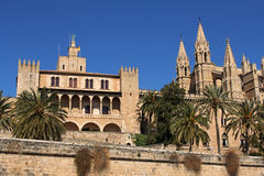 Cathedral of Palma in Palma de Mallorca, Spain. La Seu Cathedral of Palma in Palma de Mallorca, Majorca, Spain Royalty Free Stock Photo