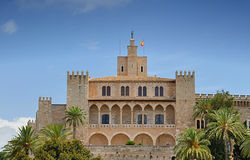 The Royal Palace of La Almudaina Stock Images