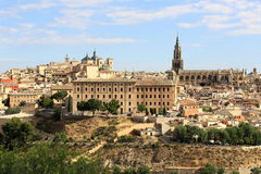 Cathedral, Panorama of the city of Toledo, Spain Royalty Free Stock Images