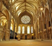 Cathedral. Panoramic photos of Cathedral Interior in UK Stock Photos