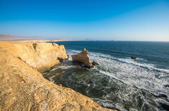 The Cathedral in Paracas Natural Reserve, Peru. The Cathedral rock formation in Paracas Natural Reserve, Peru, South America Royalty Free Stock Image