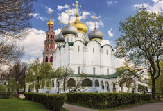 The Cathedral is in a part of the Smolensk icon of the Mother of God and bell tower Stock Photo