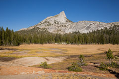 Cathedral Peak and meadows Stock Photography