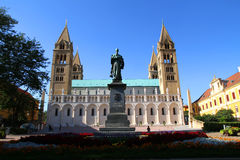 Cathedral in Pecs Stock Photo