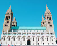 The Cathedral of Pecs Royalty Free Stock Photography