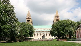 The Cathedral of Pecs. Hungary stock video