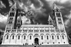Cathedral, Pecs, Hungary stock images