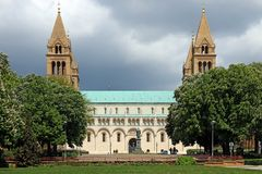 The Cathedral of Pecs Hungary. Landmark Royalty Free Stock Images