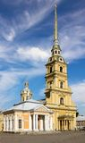 Cathedral of the Peter and Paul Fortress Royalty Free Stock Photos