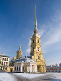 Cathedral of Peter and Pavel in winter Royalty Free Stock Images