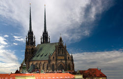 Cathedral Petrov in Brno Royalty Free Stock Images