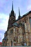 Cathedral Petrov in Brno Royalty Free Stock Image