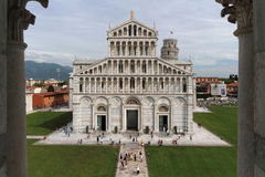 Cathedral and the Piazza del Duomo from the Baptistry Stock Photography