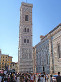 The Cathedral on the Piazza del Duomo in  Florence in Italy. Royalty Free Stock Photography