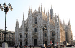 Cathedral at Piazza del Duomo, Milan, Italy Stock Images