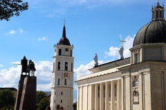 Cathedral. Picture is illustrating the downtown area of Vilnius, Lithuania Royalty Free Stock Photo