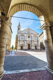 Cathedral of Pienza Stock Images