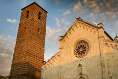 Cathedral of Pietrasanta Stock Photography