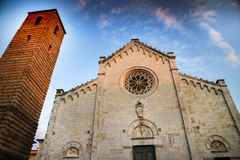 Cathedral of Pietrasanta Royalty Free Stock Images