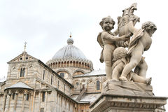 Cathedral in pisa. Cathedral in piazza dei miracoli in pisa, italy Royalty Free Stock Photo