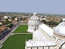 Cathedral in Pisa. Panorama of the city of Pisa and the area of a cathedral royalty free stock images
