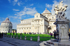 Cathedral of Pisa and Baptistery Royalty Free Stock Photo