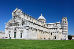 Cathedral of Pisa and Leaning Tower stock photography