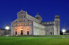 Cathedral of Pisa and Leaning Tower Stock Image