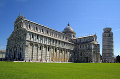 Cathedral of Pisa with leaning tower Royalty Free Stock Photo