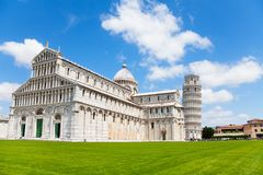 Cathedral and Pisa leaning tower Royalty Free Stock Image