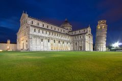 Cathedral of Pisa and Leaning Tower in the Square of Miracles, I Stock Photo