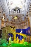 Cathedral of Pisa - nativity scene stock photo