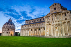 Cathedral in Pisa at night Royalty Free Stock Photos
