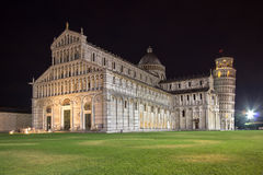 Cathedral of Pisa at night in Italy Royalty Free Stock Photo