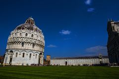 Cathedral of Pisa religious complex Royalty Free Stock Photo