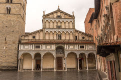 Cathedral in Pistoia, Italy. St .Zeno Cathedral in Pistoia, Italy stock images