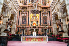 Cathedral placed in the centre of the Mezquita (old mosque) in C Royalty Free Stock Photography
