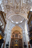 Catholic details in the Mezquita of Cordoba Stock Photography