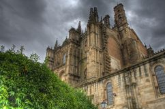 Cathedral of plasencia in hdr Stock Photo