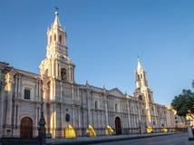 Cathedral at Plaza de Armas - Arequipa, Peru. Cathedral at Plaza de Armas in Arequipa, Peru Stock Images