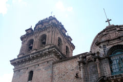 Cathedral in Plaza de Armas Cuzco Peru Royalty Free Stock Photos