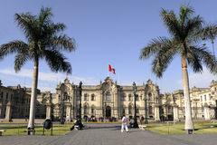 Cathedral at Plaza de Armas, Historic Centre of Lima Royalty Free Stock Image