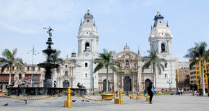 Cathedral at Plaza de Armas Royalty Free Stock Image