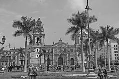 Cathedral at Plaza de Armas Royalty Free Stock Photography